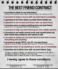 The best friend contract my best friend 3 pinterest best friend application see more bff contract thecheapjerseys Choice Image