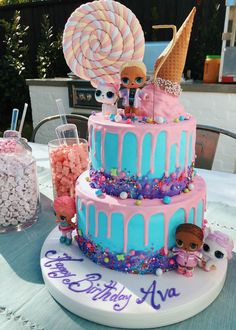 LOL Birthday Cake Best Picture For Lol Surprise Dolls Cake printables For Your Taste You are looking for something, and it is going to tell y Girly Birthday Cakes, Doll Birthday Cake, 7th Birthday, Birthday Ideas, Lol Doll Cake, Surprise Cake, Diy Cake, Girl Cakes, Party Cakes