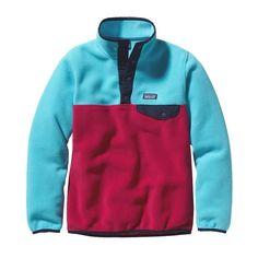 Patagonia Girls\' Lightweight Synchilla\u00AE Snap-T\u00AE Pullover - Portofino Pink POFP