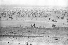 Two young boys in the desert: the sahel drought, 1974