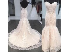Romantic Lace Backless Mermaid Wedding Dresses Sweetheart Bridal
