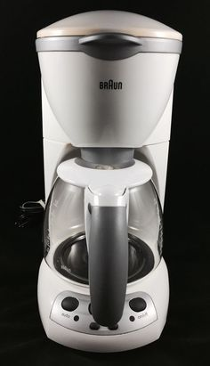 Gevalia Coffee Maker 12 Cup Stainless Model CM500 White Tested Works