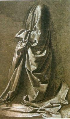 Etude de drapé, Léonard de Vinci