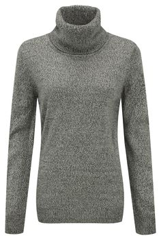 Damart dark grey marl sweater, product code T004. www.damart.co.uk