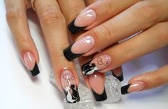 35 Best Nail Designs Black And White Images Nails Design Black