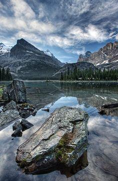 Lake O'Hara and Lake O'Hara Lodge, Yoho National Park, BC, Canada