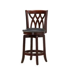 """Cathedral 24"""" Swivel Bar Stool with Cushion"""