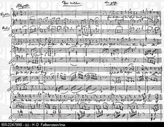 The Violet by Goethe, historical sheet music manuscript by Wolfgang Amadeus Mozart