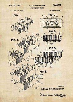 Lego Brick Patent Print