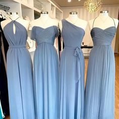 Miix and match our Slate color with different styles and fabrics! Slate Blue Bridesmaid Dresses, Mix Match Bridesmaids, Amsale Bridesmaid, Wedding Wear, Blue Wedding, Wedding Colors, Wedding Dresses, Wedding Bells, Bridal Style