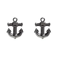 Stud Post Earrings by Sourpuss- Silver Anchors - SALE