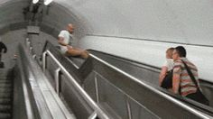 Sliding down this up escalator: | 23 Ideas That Prove People Are Dumb And Never Think Ahead