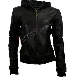 Black Hoodie Style Jacket For Women