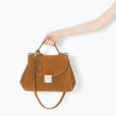 ZARA - SHOES & BAGS - SOFT LEATHER BOWLING BAG