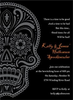 Free Day Of The Dead Invitations From Crate And Barrel And Our - Day of the dead party invitation template