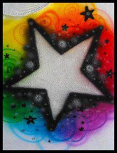 Airbrush - Rainbow Star by ~vampireheartagram27 on deviantART