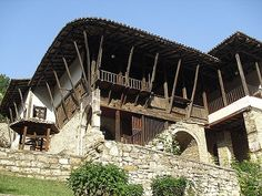 Ottoman house in Albania. I have actually been inside this house. It was in Berat where I lived for a couple months during my travels. It's been converted into a museum demonstrating traditional Albanian life.
