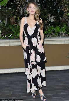 Blake Lively dons floral tiered gown at LA event - Celebrity Fashion Trends