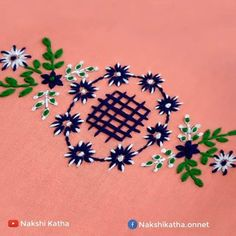 Hand Embroidery Patterns Flowers, Hand Embroidery Videos, Embroidery Stitches Tutorial, Embroidery Flowers Pattern, Hand Embroidery Designs, Creative Embroidery, Simple Embroidery, Learn Embroidery, Border Design