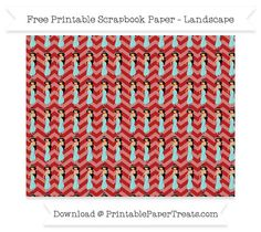 Free Landscape Fire Brick Red Chevron Large Princess Jasmine Pattern Paper - Aladdin