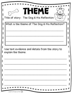 Teaching Theme with Fables - The Crow and the. by Laurie Kraus Reading Practice, 3rd Grade Reading, Reading Skills, Vocabulary Activities, Reading Activities, Lion And The Mouse, Teaching Themes, Text Evidence, Teaching First Grade