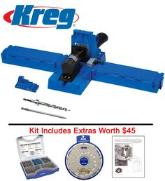 Kreg K5 Pocket Hole Jig Kit With 675 Screw Kit, Booklet & Selector - Worth $45