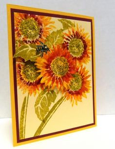 Bee-ing Happy with Sunflowers by blueheron - Cards and Paper Crafts at Splitcoaststampers