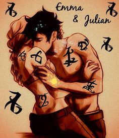 Emma and Julian Blackthorn   TMI TDA shadowhunters   Jemma   Note: this is a filtered and edited fan art of Viria's Percy and Annabeth