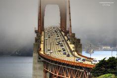 """The Fog at Golden Gate Bridge"" by Rex Cadungog, via 500px"