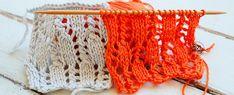 Fácil de tejer, pero diferente: este punto de encaje vertical es muy elegante, ideal para tejer un chal rectangular o una bufanda de primavera en dos agujas o palillos