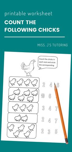 $0.99· Chick counting- Practice counting with this fun printable worksheet. Kids count the chicks in each nest and circle the corresponding. After circling, they can color all the pictures.