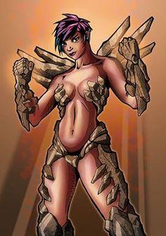 #girl #woman #chica #mujer #roca #stone #tomboy #warrior #guerrera #punch #puños