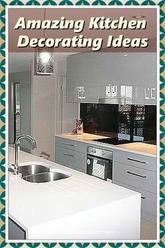 Are you wanting to transform your compact and small kitchen into a dream? And the impression of a larger space with a few strategic decorating tricks? Visit us for more tips and ideas. Decorating Kitchen, Kitchen Decor, Kitchen Cabinets, Kitchen Appliances, Modern Spaces, Country Kitchen, Cool Kitchens, Larger, Compact