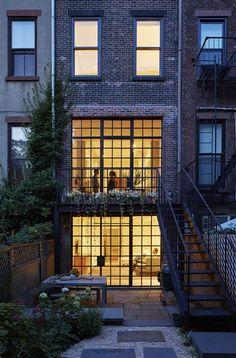 Brooklyn Townhouse Renovation - Picture gallery #architecture #interiordesign #façade #windows