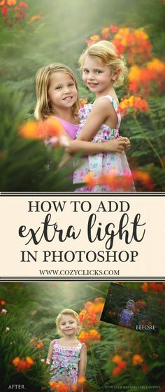 Simple Way To Add Extra Light in Your Photos in Photoshop {Video Tutorial} - Online Photo Editing - Online photo edit platform. - Video tutorial on how to add extra light in to your photos using Photoshop. See it here. Photography Lessons, Photoshop Photography, Photography Editing, Photography Business, Photography Tutorials, Digital Photography, Photo Editing, Fashion Photography, Photography Backdrops