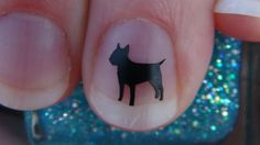 Bull Terrier Inspired Nail Art Decals Dog Breed by thefogshoppe, $1.99