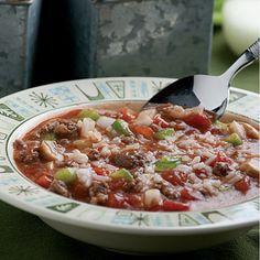 Unstuffed Green Pepper Soup
