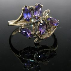 #Vintage #Amethyst #Cluster #Ring €595 #Jewelry #The #Antiques #Room #Galway #Ireland Amethyst Cluster, Cluster Ring, Purple Amethyst, Vintage Diamond, Vintage Rings, Unique Vintage, Galway Ireland, Amethyst Jewelry, Gold Flowers