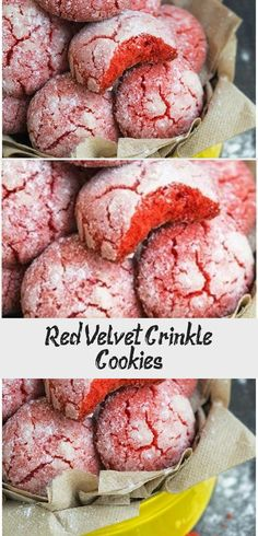RED VELVET CRINKLE COOKIES RECIPE - Quick, easy, homemade from scratch with simple ingredients. These red velvet cookies are crispy on the outside but soft and chewy on the inside. From cakewhiz.com #redvelvet #cookies #baking #dessert #christmas #ChristmasCookie Cookie Recipes From Scratch, Recipe From Scratch, Best Cookie Recipes, Red Velvet Crinkles, Red Velvet Crinkle Cookies, Roll Cookies, Cake Mix Cookies, Red Velvet Cookie Recipe, Liquid Food Coloring