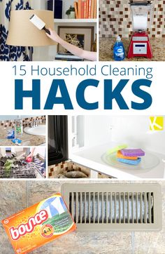 15 Brilliant Household Cleaning Hacks