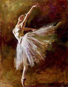 cuadros de bailarinas de ballet al oleo - Buscar con Google