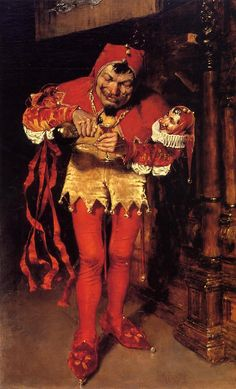 Keying Up - the Court Jester  1875 | William Merritt Chase | oil painting