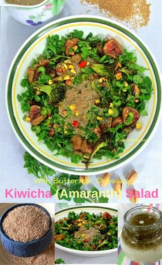 A rich, nutritious salad of heirloom Kiwicha grains (a form of amaranth),  with a delicious buttermilk dressing, and with honey roasted figs, charred broccoli, herbs and pistachio nuts. Kiwicha was a staple food in Peru 4000 years ago. With disease fighting properties and great health benefits, Kiwicha is the new Quinoa!