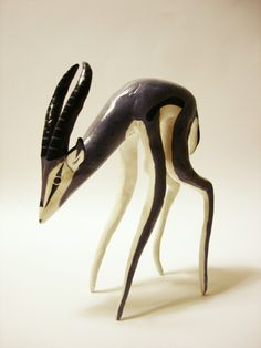 JULIAN CALLOS, GAZELLE: hand-made figurines for friends representing their spirit animal. what a beautiful labor of love. #julian_callos #sculpture