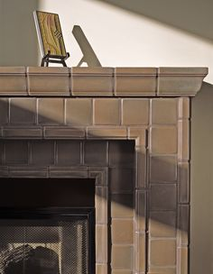 Motawi | Architectural Fireplace in Granite glaze