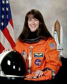 Janet Lynn Kavandi, a native of Carthage, Missouri, is an American scientist and a NASA astronaut. She is a veteran of three Space Shuttle missions and has served as NASA's Deputy Chief of the Astronaut Office. She flew missions to Mir and ISS between 1998 and 2001.