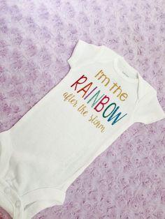 Rainbow baby shirt. Rainbow baby. Baby by LittleLoviesChic on Etsy