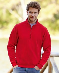 62114 Fruit Of The Loom Zip Neck Sweat Discounted price until the end of March 2015 just £8.83