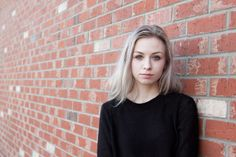 Brick wall portrait | Karolynn Asplin Photography
