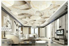 Customized photo wallpaper ceiling wallpaper murals 3 d stone frescoes wall paper beauty room wallpaper Room Wallpaper Price, Wall Art Wallpaper, Cheap Wallpaper, Photo Wallpaper, Ceiling Murals, False Ceiling Design, Lighting Design, Living Room Decor, Living Rooms